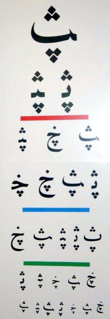 Arabic eye chart